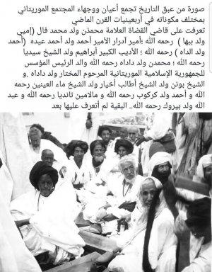 صورة صورة نادرة لتجمع من أعيان موريتانيا أسماء