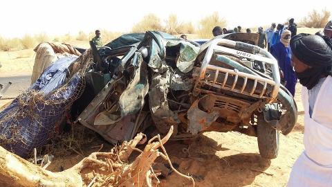صورة قتلى وجرحى في حادث سير