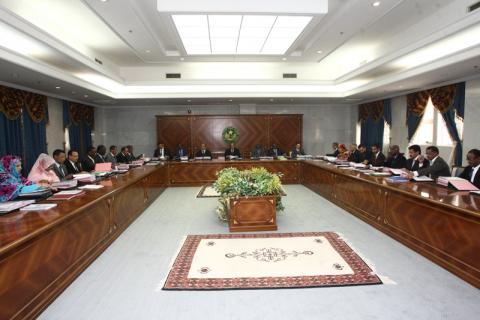 صورة تعيينات ومرسيم بمجلس الوزراء اليوم (البيان)