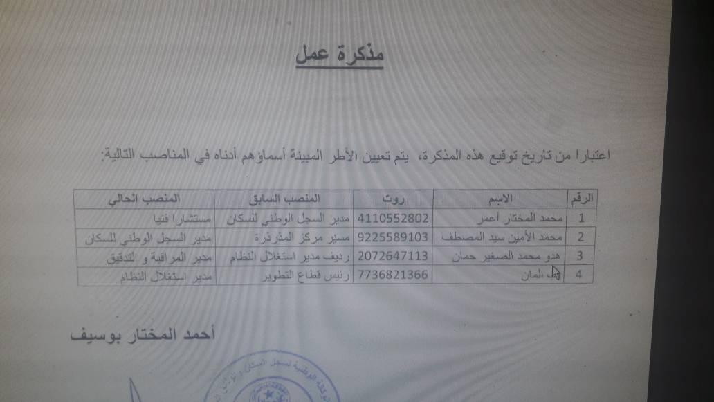 صورة خاص للراية: تعيينات واسعه في مرفق عمومي اليوم (وثائق+أسماء)