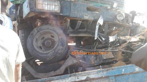 صورة قتيلين في حادث سير مروع (أسماء)