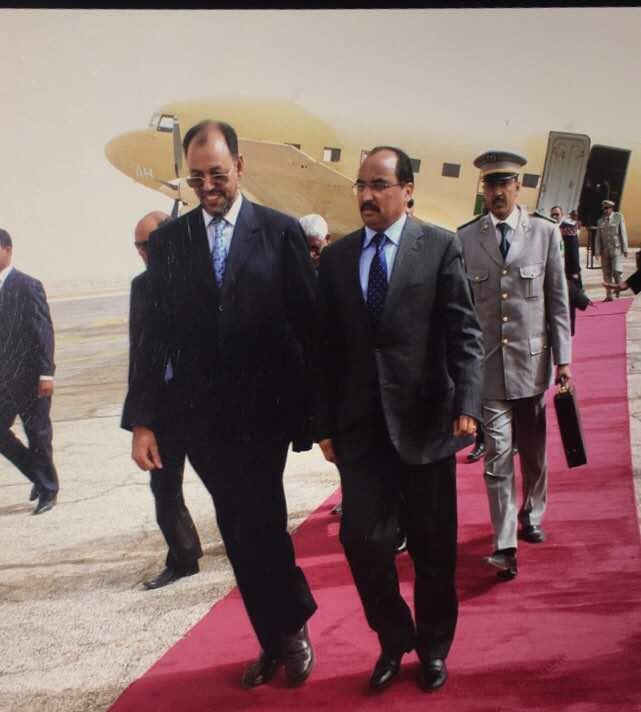 صورة محطات من تاريخ الوزير اﻻسبق ولد معاوية(معلومات+صور)