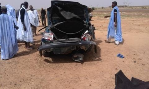 صورة وفاة شخص غي حادث سير مروع على طريق المذذرة (تفاصيل)