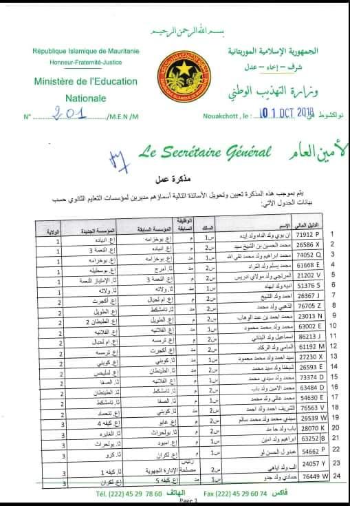 صورة وزارة التعليم تفرج عن تحويلات مديري الاعداديات والثانويات على المستوى الوطني (وثائق)