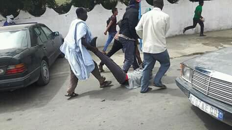 صورة الشرطة تقمع بعنف مظاهرة أمام الجمعية الوطنية(صور)