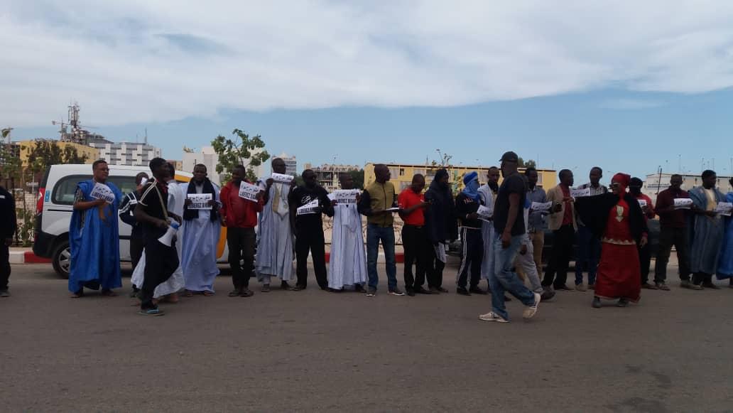 صورة تظاهرة أمام وزارة العدل للمطالبة بإطلاق سراح بيرام