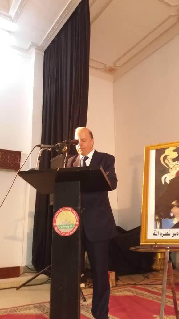 صورة ولد صهيب يحاضر بالمركز الثقافي المغربي