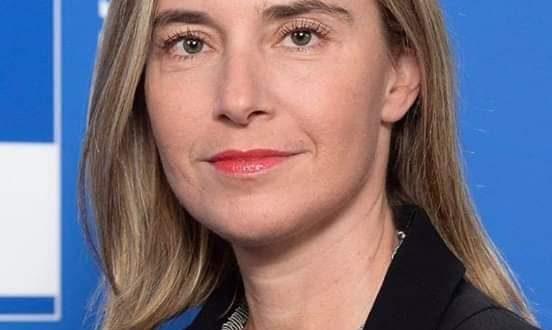 صورة وزيرة خارجية الاتحاد الاوربي : نتابع البحث في قضية بيرام مع السلطات الموريتانية(رسالة)