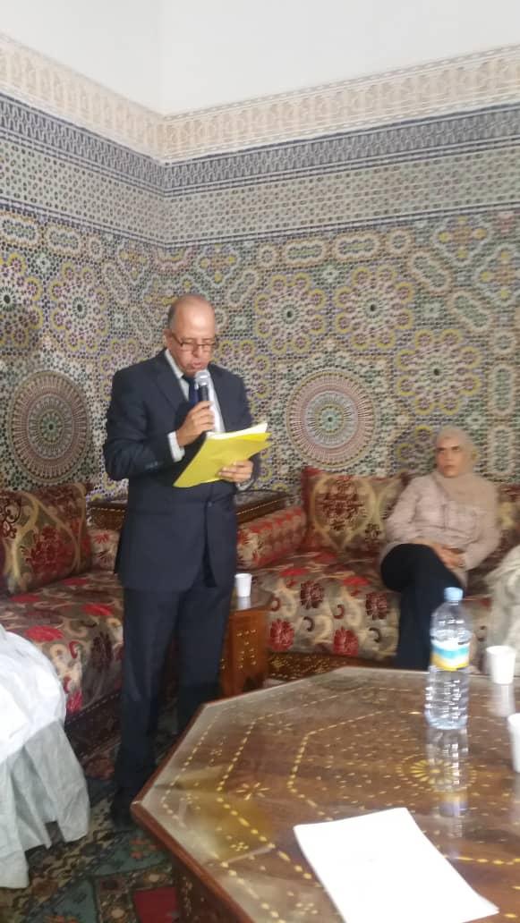 صورة مديرة المكتبة الوطنية : تحاضر بالمركز الثقافي المغربي عن الادب النسوي