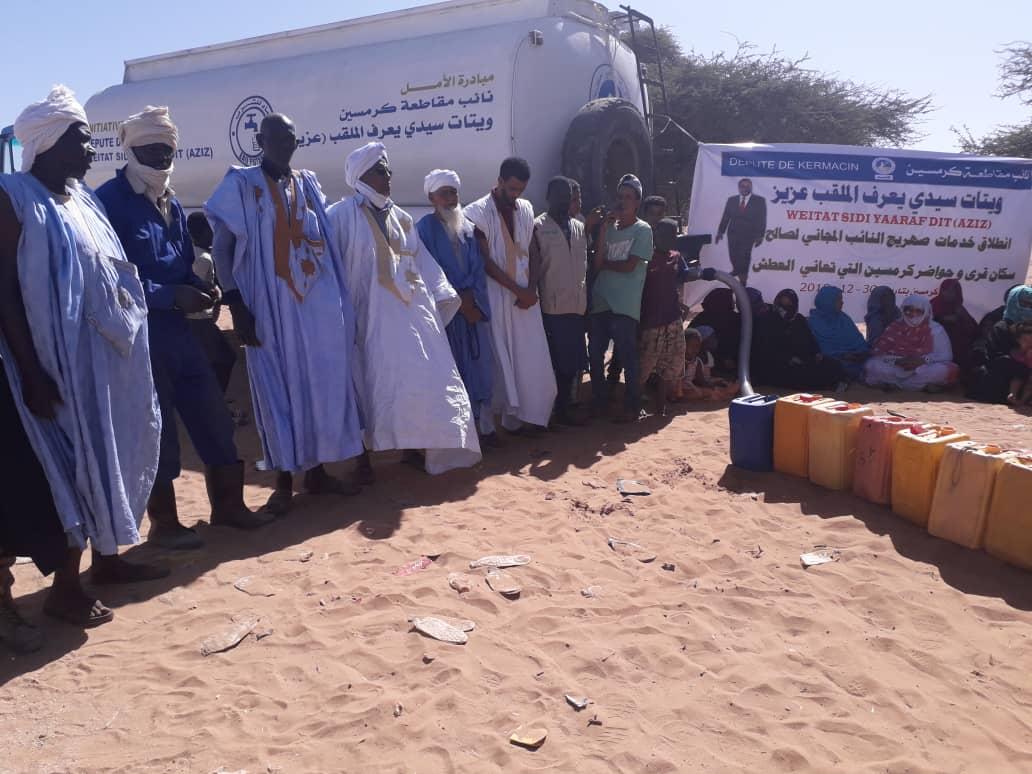 صورة نائب برلماني يحل أزمة العطش في مقاطعته
