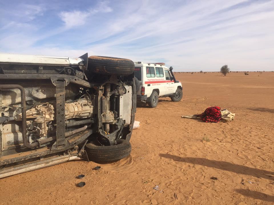 صورة حادث سير مروع يخلف عدة إصابات بعضها حرجه (صور)