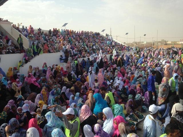 صورة ملعب ملح يغص بالجماهير لحضور إعلان ترشح ولد بوبكر (صور)
