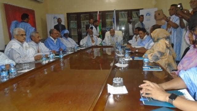 صورة ولد الغزواني: يجتمع برأساء الأحزاب الداعمة له (تفاصيل)