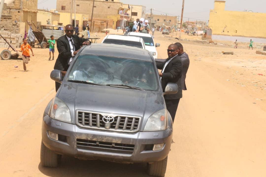 صورة روصو: مسيرة بالسيارات لإستقبال المرشح بيرام (صور)