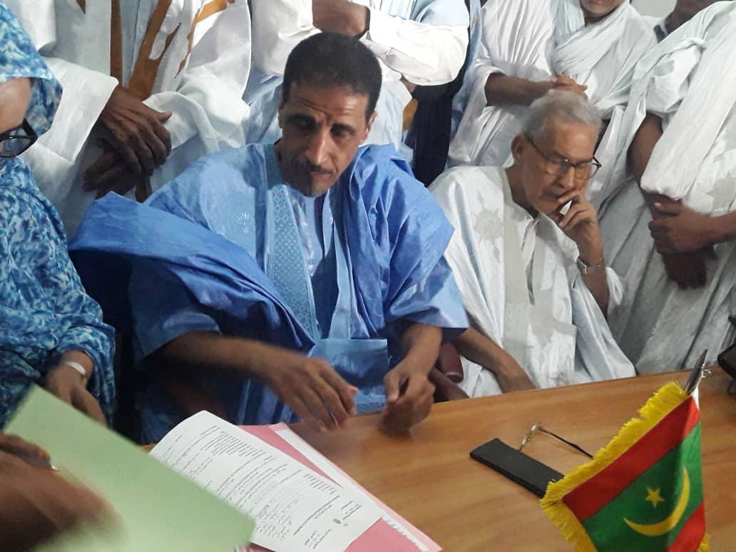 صورة المرشح ولد مولود يعين طاقم حملته (أسماء )
