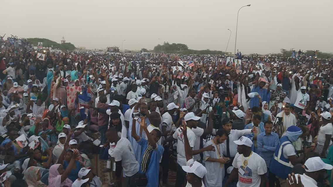 صورة بيرام : أمام عشرات الآلاف من مناصريه هذا ما أشهدكم عليه وأشهد عليه الصحافة الوطنية والدولية  (تفاصيل +صور ))