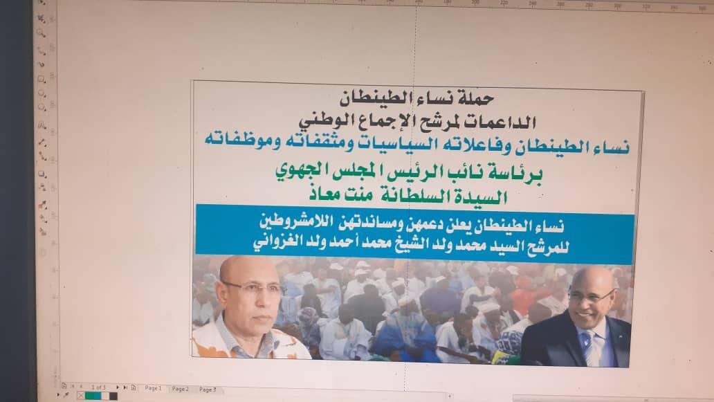 صورة السلطانة بنت معاذ جهود حثيثة لإنجاح حملة ومهرجان ولد الغزواني بالطينطان