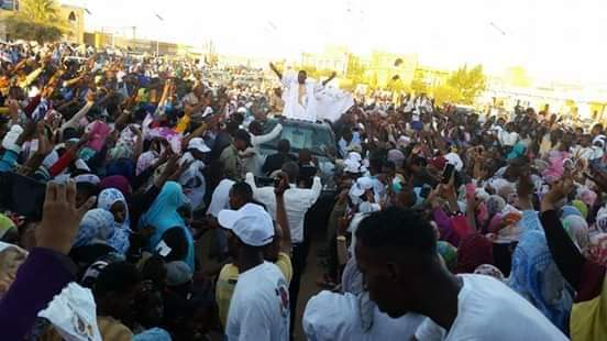 صورة بيرام يترأس مهرجانا شعبيا حاشدا بأطار ويتحدث عن فساد النظام وتعبيد التجار (صور )