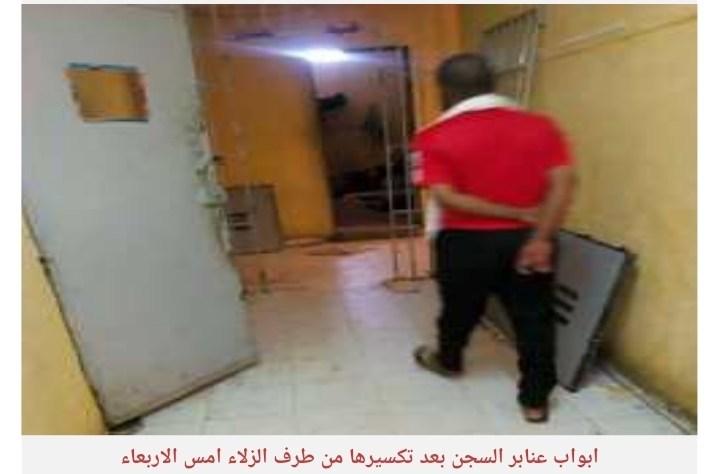 صورة سجن بير أم إكرين يخرج عن السيطرة بعد تكسير أبواب العنابر من طرف السجناء (تفاصيل)