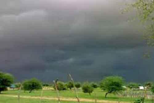صورة تساقطات مطرية على مناطق من البلاد (مقاييس  )