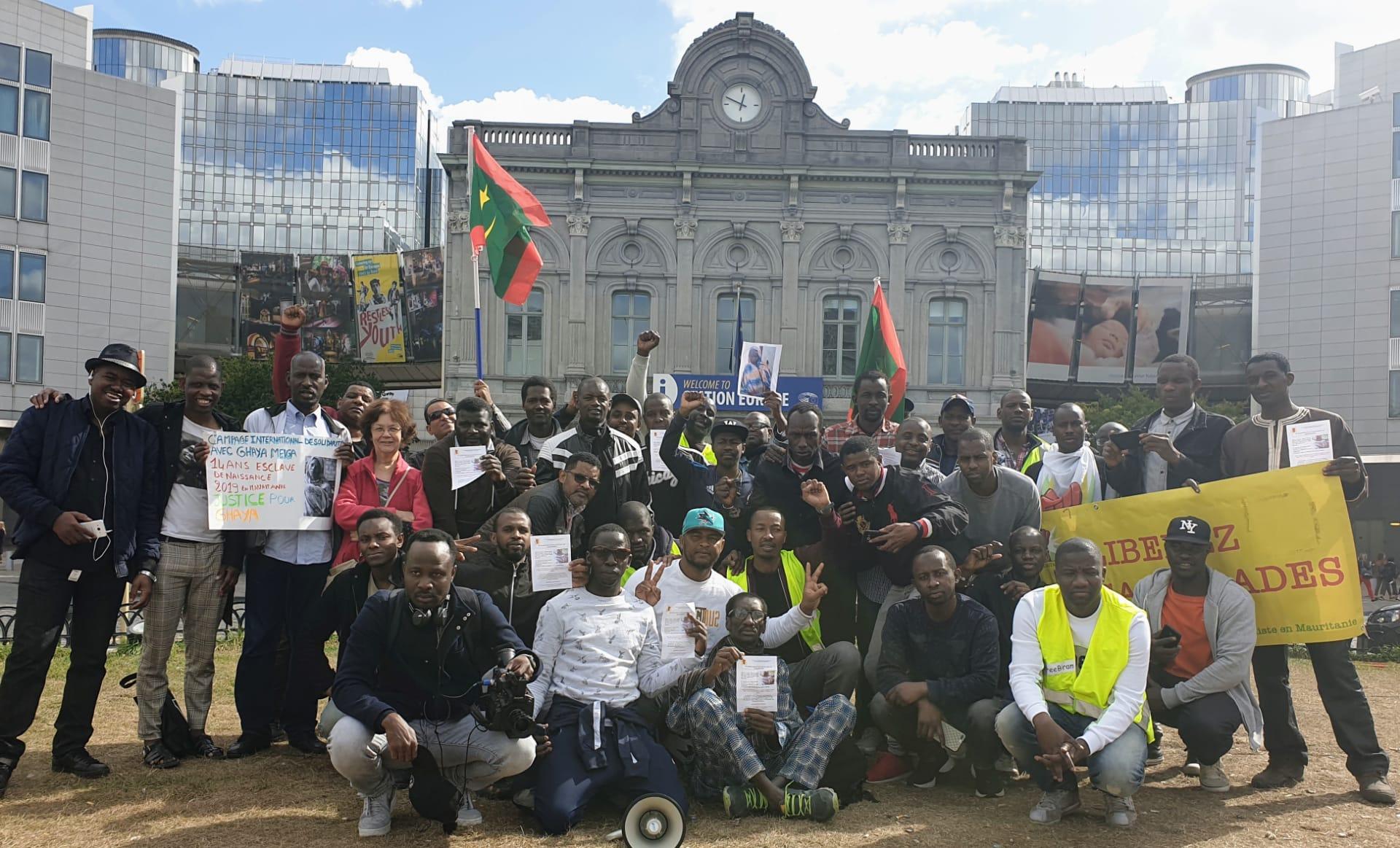 صورة بلجيكا : موريتانيون يتظاهرون تضامنا مع غاية (صور +فيديو  )