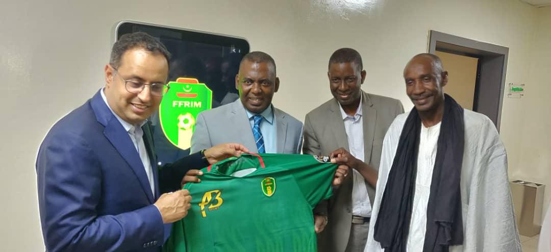 صورة النائب بيرام يقوم بزيارة للإتحادية الوطنية لكرة القدم (صور )