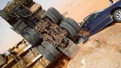 صورة حادث سير على الطريق الرابط بين نواكشوط وبوتلميت (صورة)