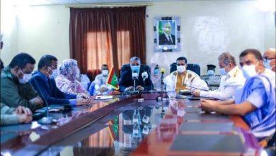 صورة وزير الصحة يقوم بزيارة لمدينة انواذيبو
