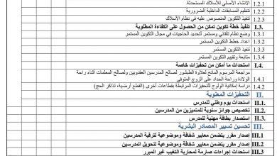 صورة وزارة التهذيب تقدم خطة للنهوض بالمدرسين (وثيقة)