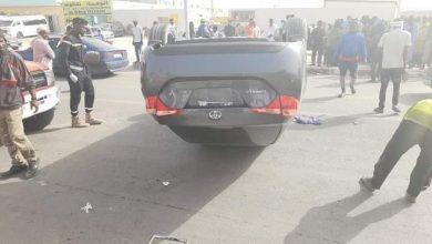 صورة نواكشوط : انقلاب سيارة بعد سرقتها  (صورة)
